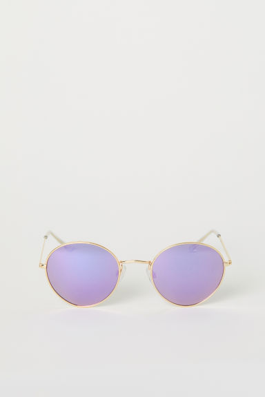 Sunglasses - Gold-coloured/Purple - Ladies | H&M