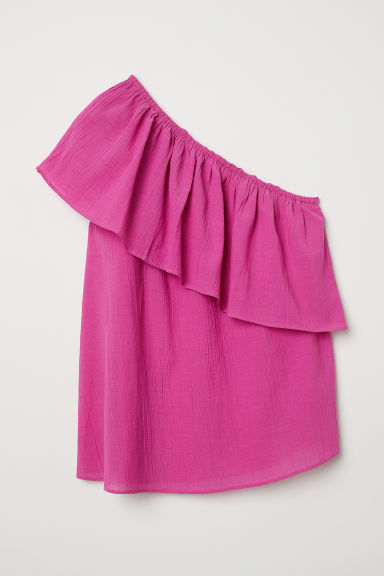 One-shoulder top - Cerise -  | H&M
