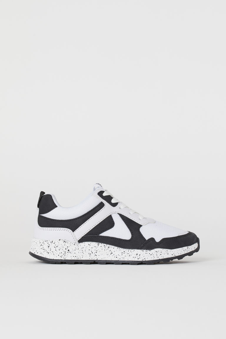 Mesh trainers - White/Black - Kids | H&M GB