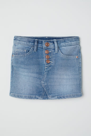 Denim skirt - Denim blue - Kids | H&M CN