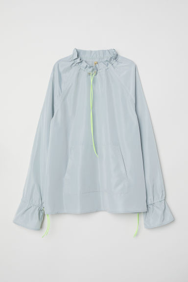 Blouse with a stand-up collar - Dusky green - Ladies | H&M CN