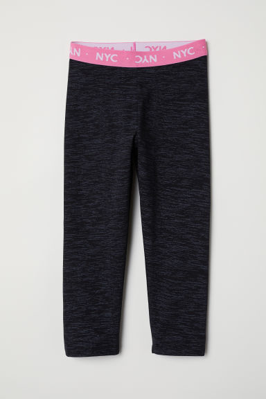3/4-length leggings - Black/Patterned - Kids | H&M CN