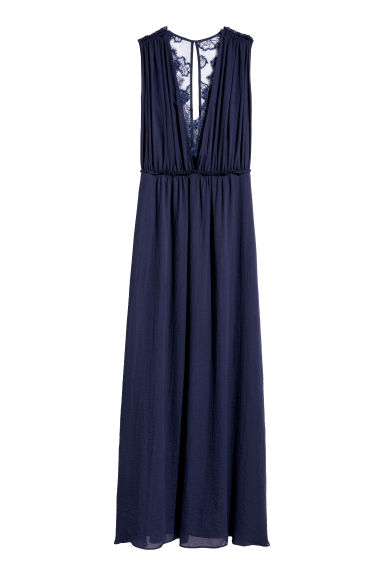 Long dress - Dark blue -  | H&M GB