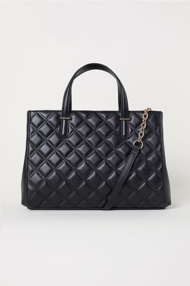 Quilted Handbag Black Las H M