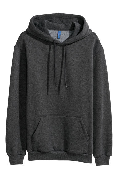 Hooded top - Dark grey marl - Men | H&M CN