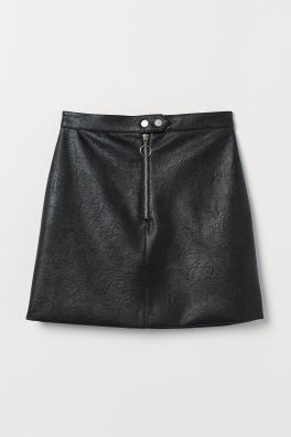 70689a059f Faux Leather Skirt