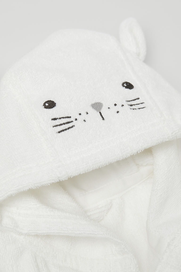 Terry dressing gown - White - Kids | H&M CN