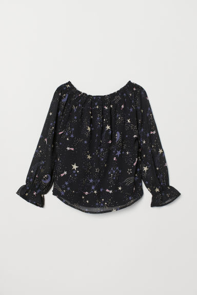Viscose blouse - Black/Space - Kids | H&M CN