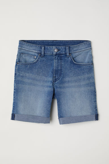 Skinny Denim shorts - Light denim blue - Men | H&M