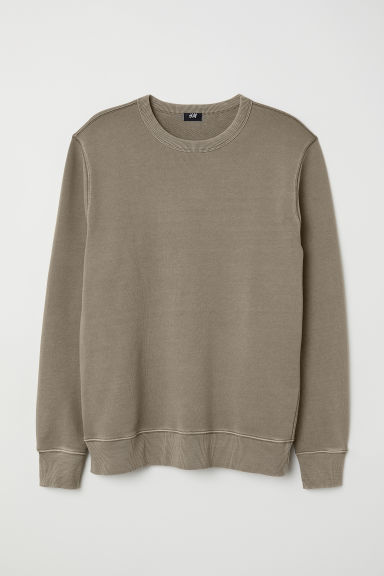 Sweatshirt - Khaki green - Men | H&M CN