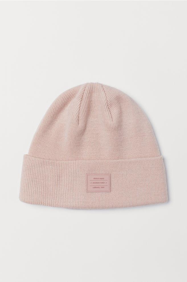 Berretto in maglia sottile - Powder pink - DONNA  587b099ae03e