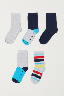 5-pack anti-slip-socks