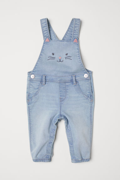 Denim dungarees - Light denim blue - Kids | H&M CN