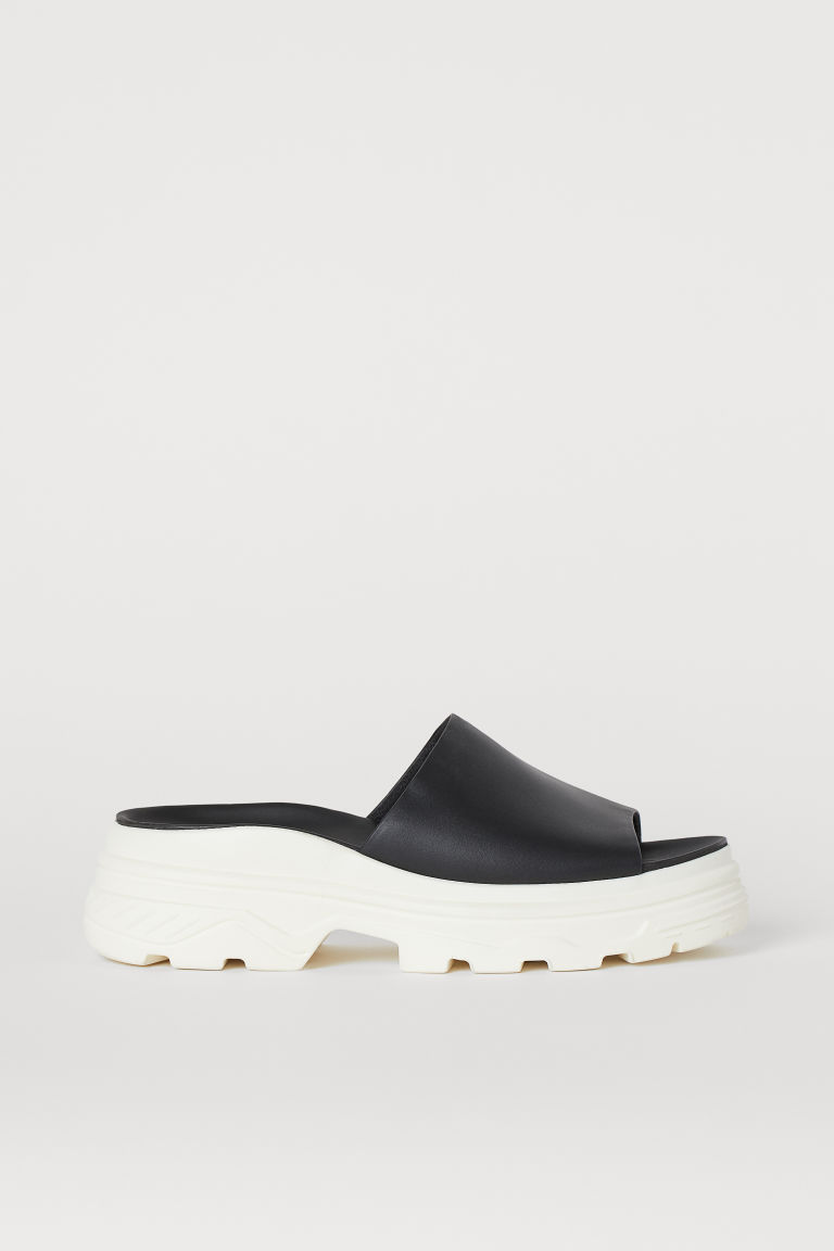 Chunky-soled Slippers - Black/white -  | H&M CA