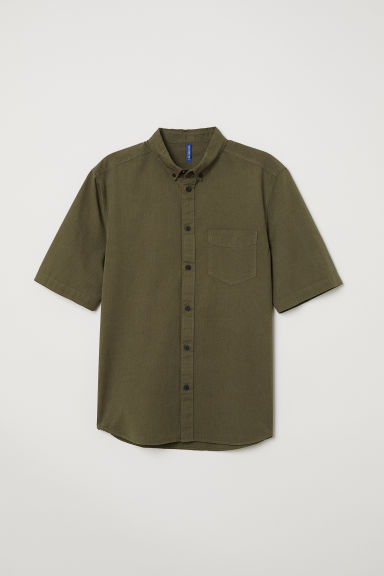Cotton shirt Regular Fit - Khaki - Men | H&M