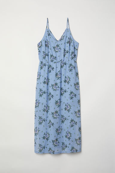 H&M+ Maxi dress - Light blue/Floral - Ladies | H&M CN