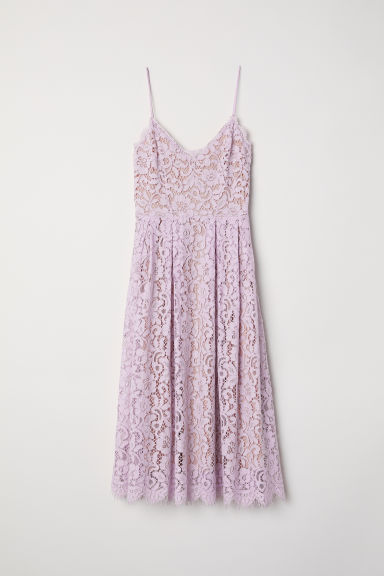 Lace dress - Light purple - Ladies | H&M CN