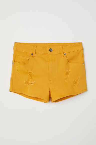 Shorts in twill High Waist - Giallo scuro - DONNA | H&M IT