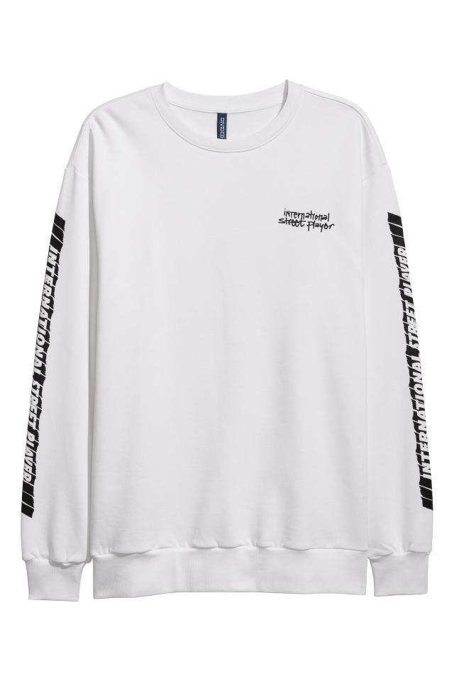 29beb0ed6 Sweatshirt with Motif - White Harlem City - Men