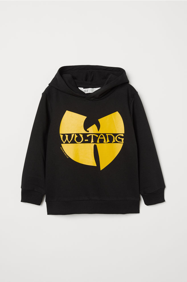 26a5e51bf1 ... Printed Hooded Sweatshirt - Black Wu-Tang Clan - Kids