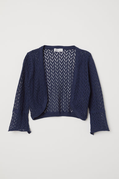 Loose-knit bolero - Dark blue - Kids | H&M CN