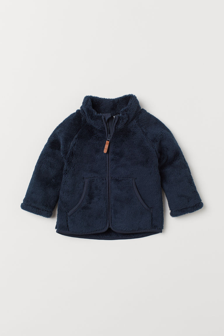 Pile jacket - Dark blue - Kids | H&M CN