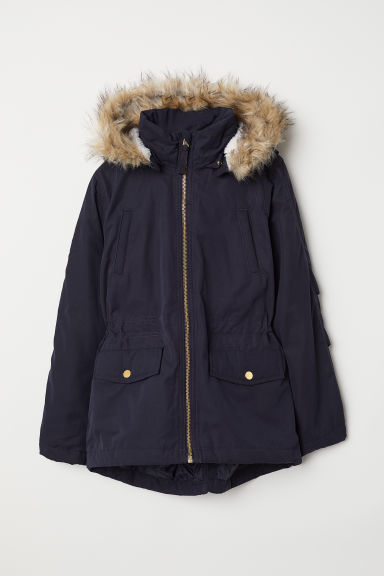 Padded parka - Dark blue - Kids | H&M