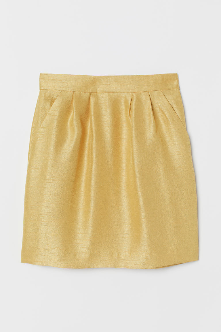 Textured skirt - Yellow -  | H&M CN