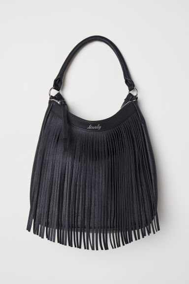 Handbag with fringing - Black - Kids | H&M CN
