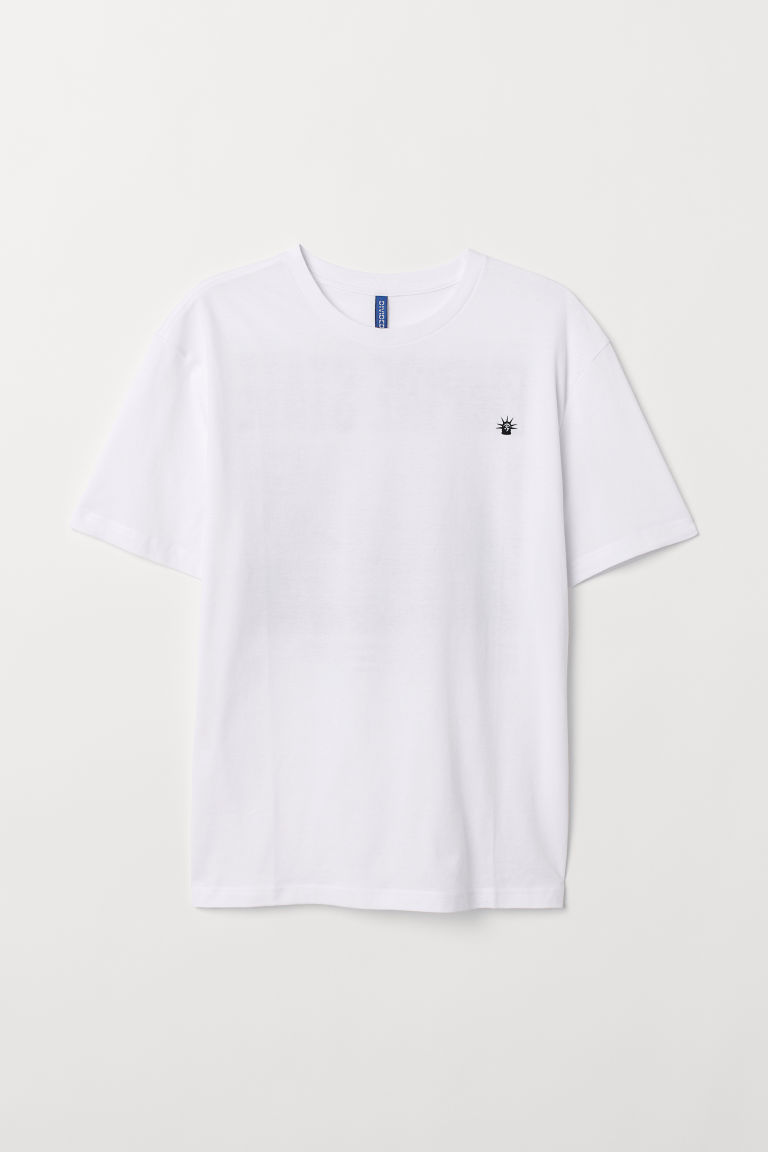 Printed T-shirt - White/Empire State -  | H&M