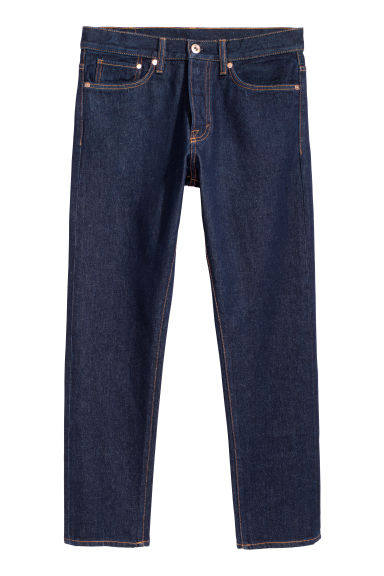Straight Jeans - Donker denimblauw - HEREN | H&M BE