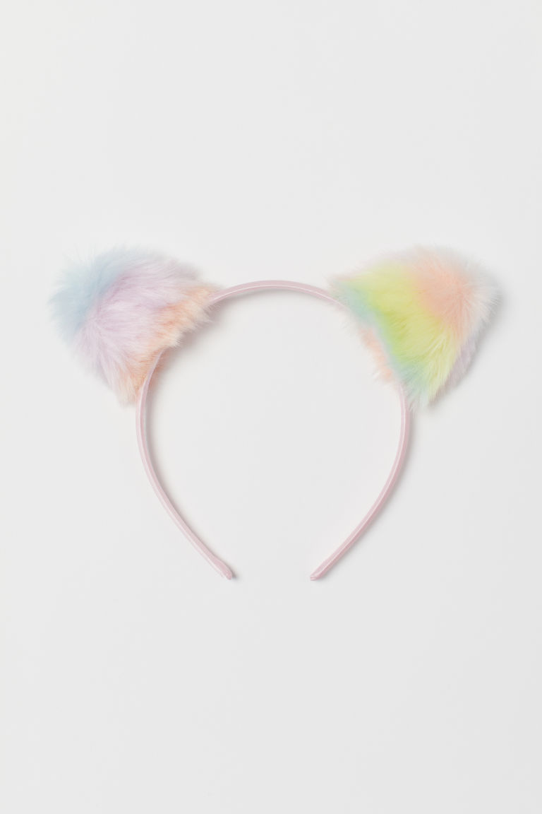 Alice band with ears - Light pink/Multicoloured - Kids | H&M CN