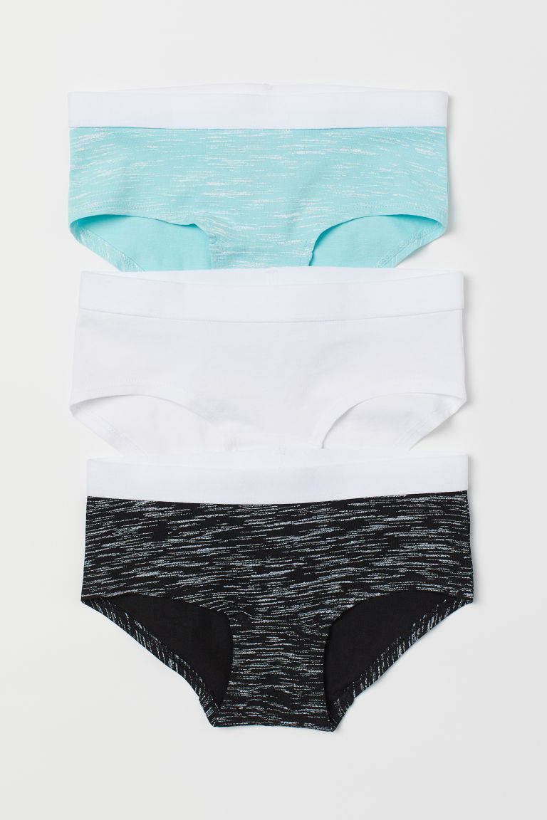 3-pack hipster briefs - Turquoise/Multicoloured - Kids | H&M