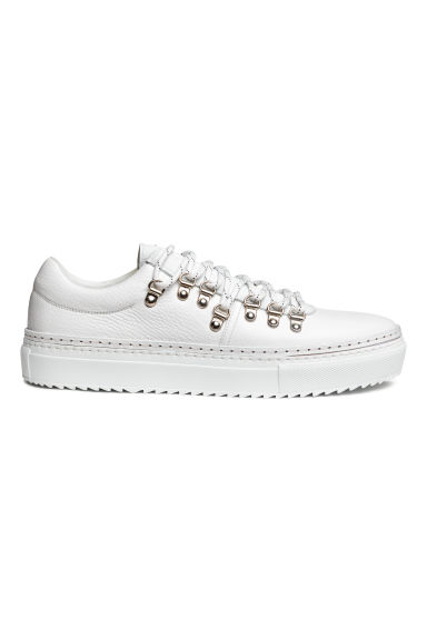 Leather trainers - White - Men | H&M CN