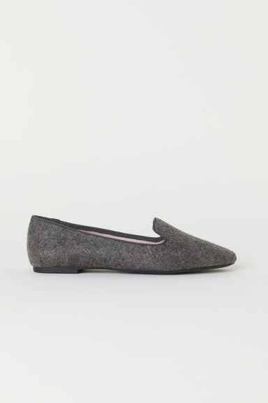 Loafers - Dark grey marl - Ladies | H&M CN