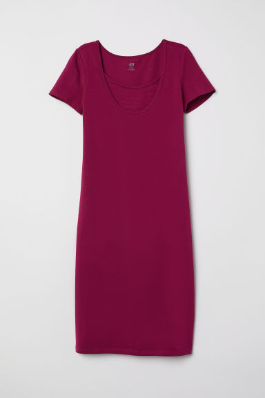 MAMA Nursing dress - Dark pink - Ladies | H&M