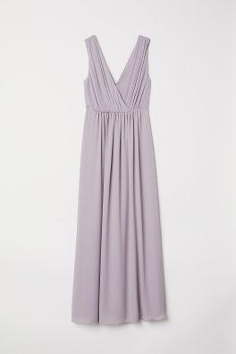 Pitkä v-aukkoinen mekko 45b8d16866