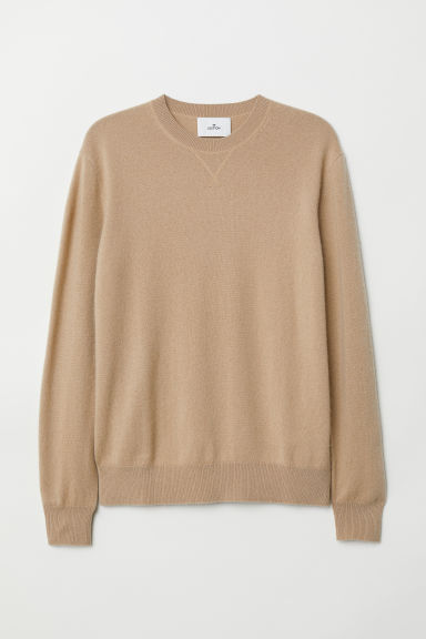 Cashmere jumper - Light beige - Men | H&M