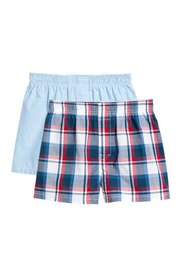 2-pack boxer shorts - Red/Checked - Kids | H&M