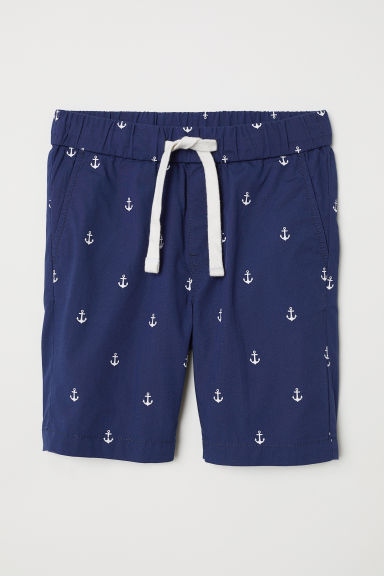 Cotton shorts - Dark blue/Anchors -  | H&M