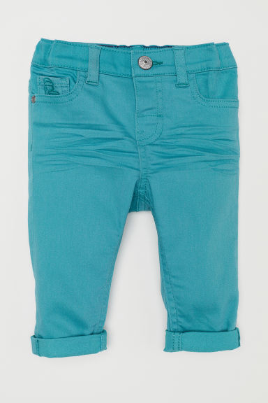 Twill trousers - Turquoise - Kids | H&M