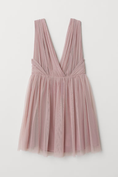 V-neck tulle dress - Old rose - Ladies | H&M CN
