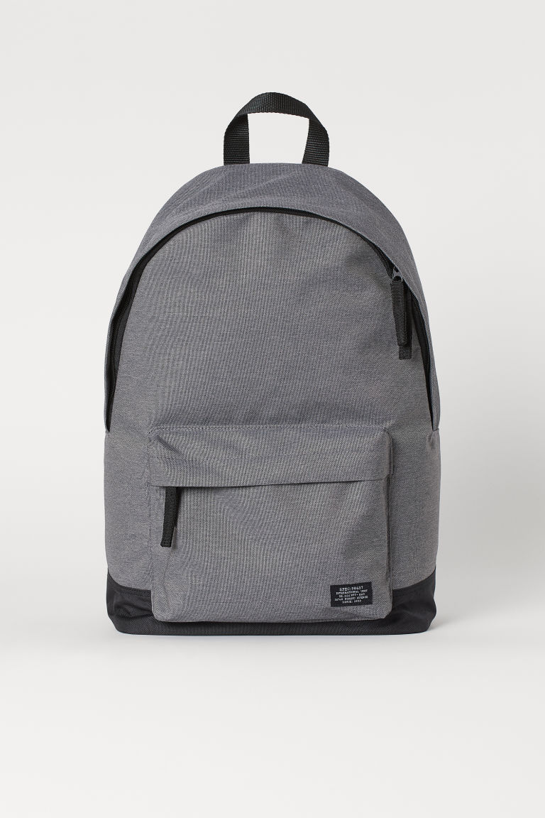 Backpack - Grey marl/Dark blue - Men | H&M