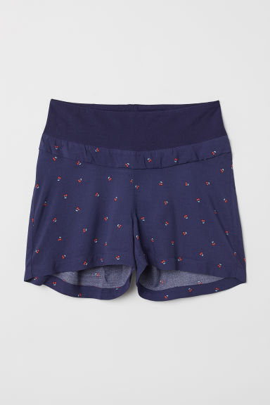 MAMA Patterned shorts - Dark blue/Cherries - Ladies | H&M