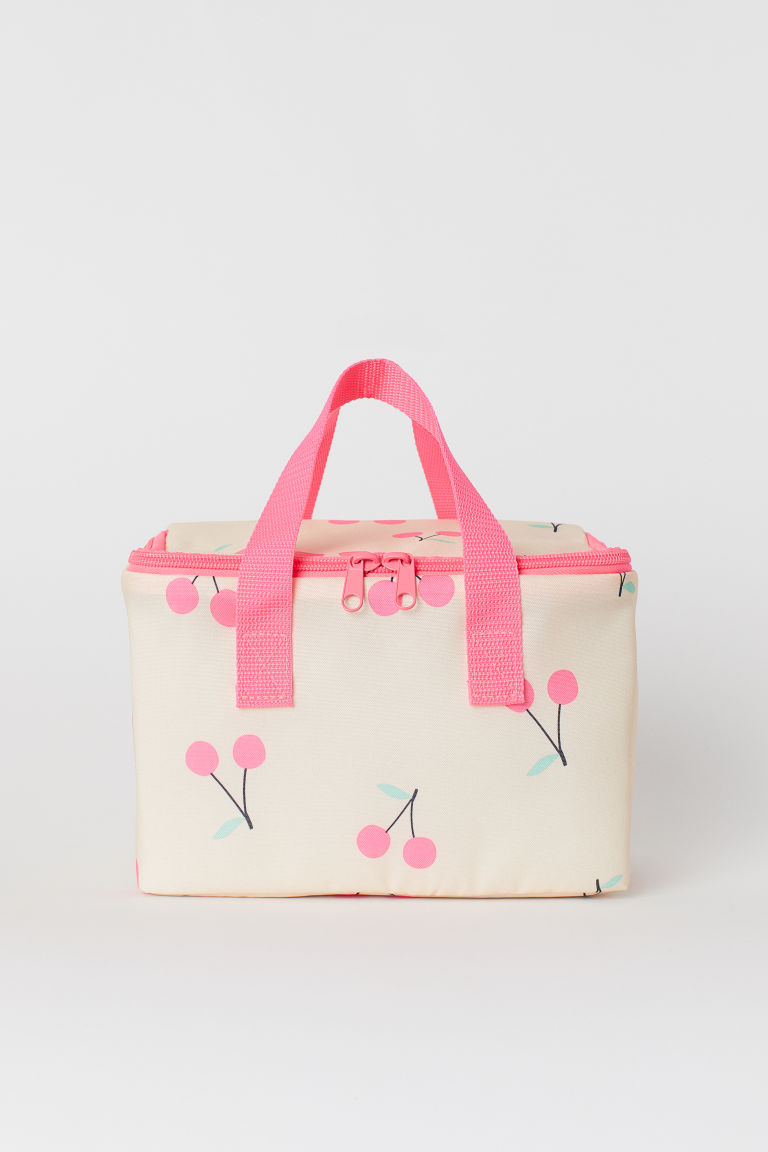 Patterned cool bag - Powder pink/Cherries - Home All | H&M GB