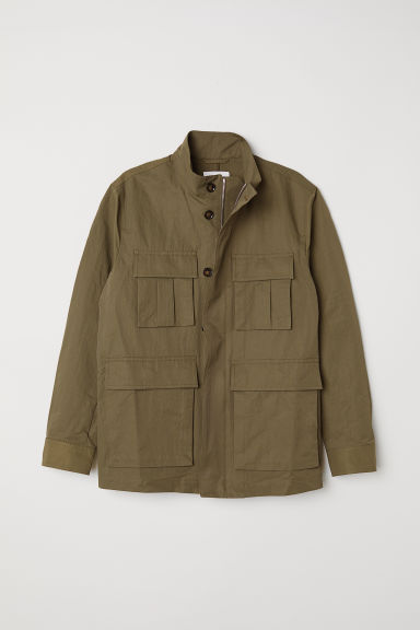 Cargo jacket - Khaki green - Men | H&M CN