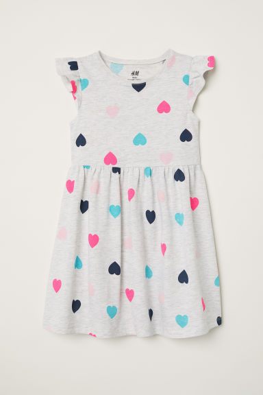 Jersey dress - Light grey marl - Kids | H&M CN
