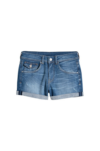 Denim shorts Regular Waist - Dark denim blue -  | H&M CN