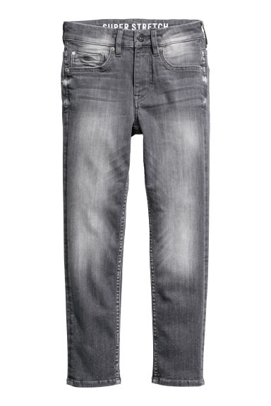 Superstretch Skinny Fit Jeans - Grijs washed out -  | H&M BE