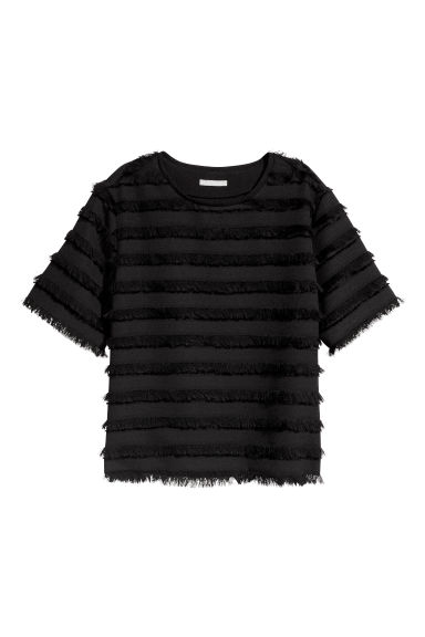 Top with fringes - Black - Ladies | H&M CN